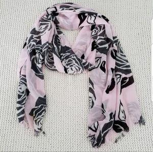 kate spade Accessories - KATE SPADE pink & black floral scarf
